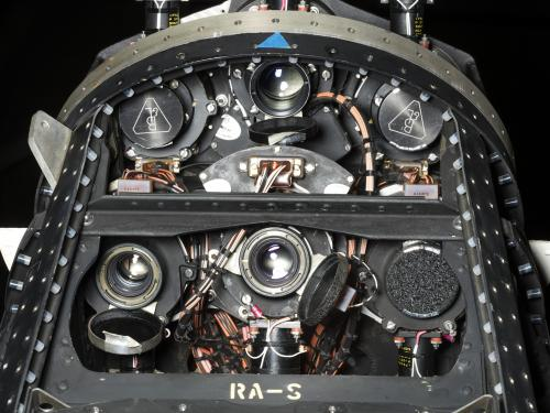 Camera Lenses within black Ranger spacecraft