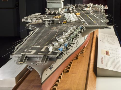 Bow of USS Enterprise Aircraft Carrier Model