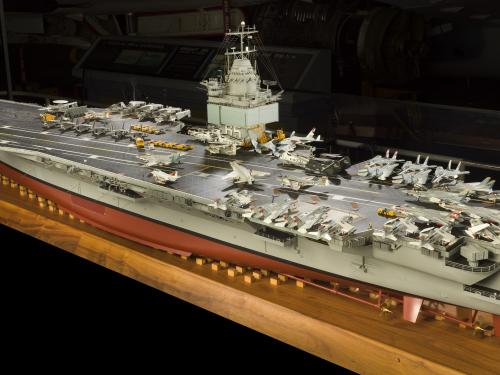 Flight deck of USS Enterprise Aircraft Carrier Model