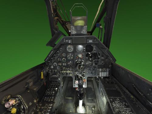 Panorama of Bell AH-1F Cobra Cockpit