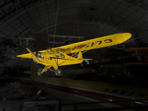 Piper J-3 Cub is made up of a Fuselage and steel tube with a fabric cover.