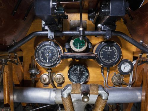 Wooden Sopwith F.1 Camel Instrument Panel with gauges and metal frame