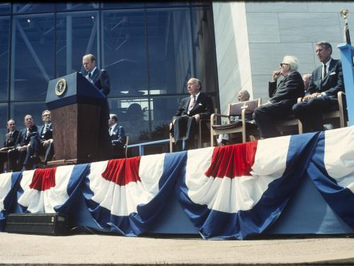 Opening ceremony of National Air and Space Museum in Washington, DC, July 1, 1976