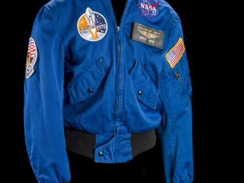 View of Sally Ride's Flight Jacket