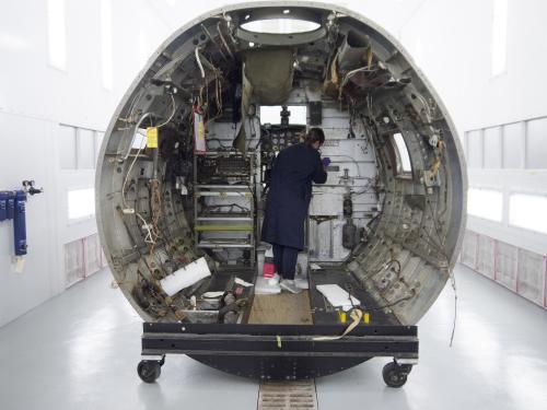 Conservator Inside Aircraft