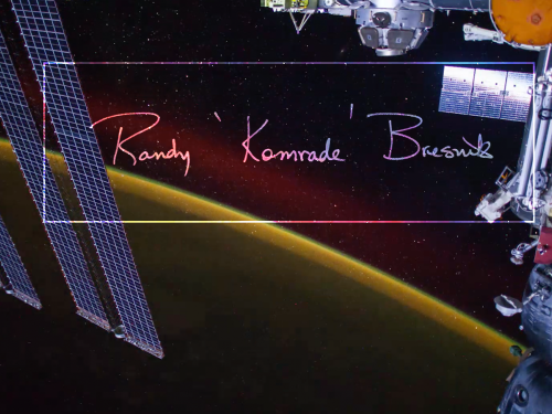 Signature From Astronaut Bresnik