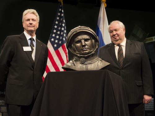 Presentation of Yuri Gagarin Bust to the Museum