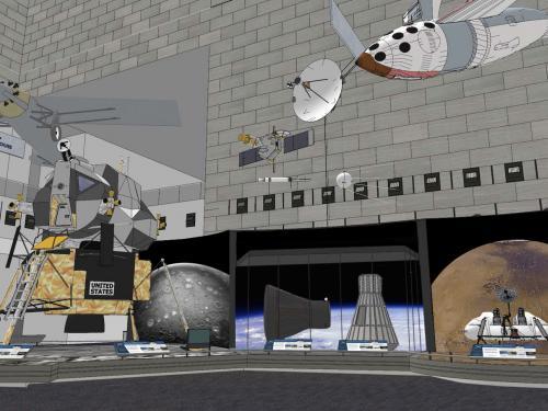 Rendering of Boeing Milestones of Flight Hall