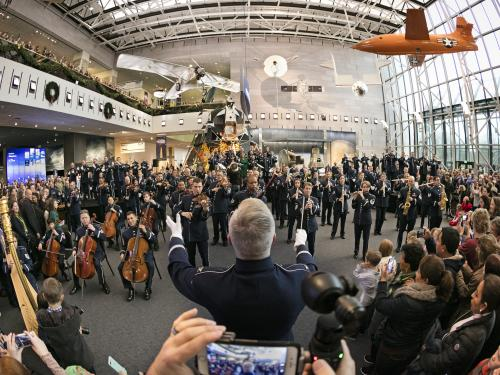 The U.S. Air Force Band Performs at the Museum