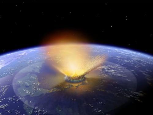 Artist Illustration of Asteroid Impact