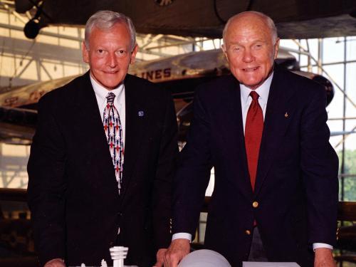 General J.R. Dailey and Senator John Glenn