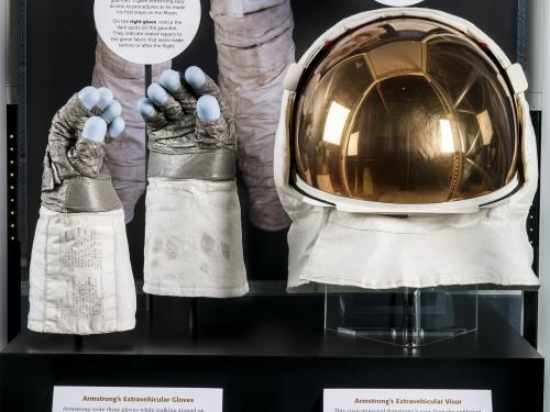 Neil Armstrong's Apollo 11 Gloves and Helmet