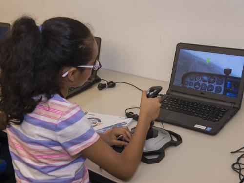"""She Can"" STEM Camp Flight Simulator"