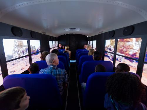 Students on Mars Experience bus