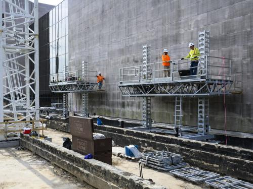 Exterior renovation of National Air and Space Museum