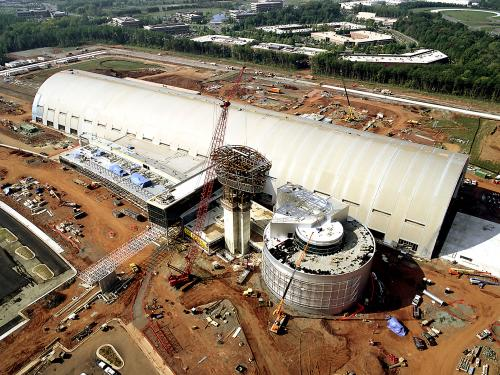 Udvar-Hazy Center Aerial View - 75% complete