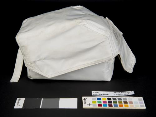 Before and after treatment view of the Apollo 11 medical accessory kit.