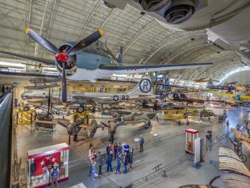 photograph of aircraft inside the udvar hazy museum