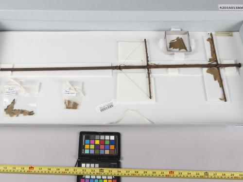 This artifact that looks like a ship's mast is actually a Langley aerodrome frame part.