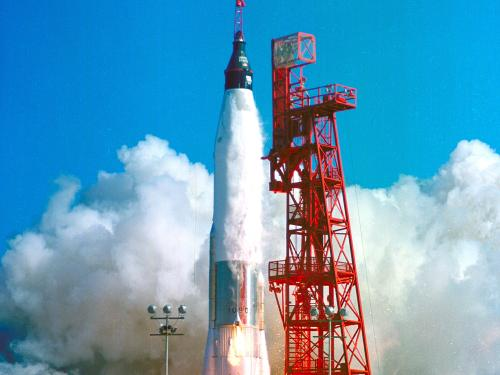 "Launch of the Mercury ""Friendship 7"" Spacecraft"