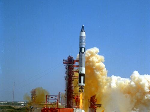 Gemini-Titan 4 Rocket Launching the Gemini IV Spacecraft