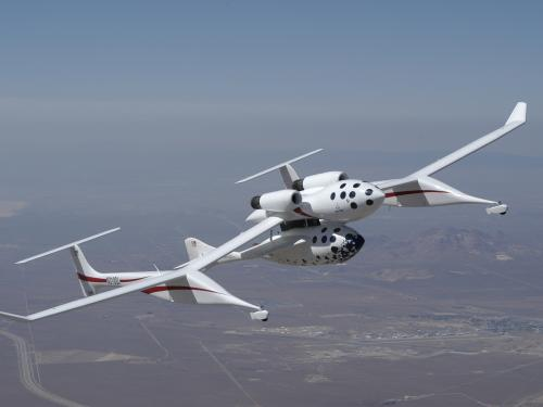 SpaceShipOne and White Knight Mothership