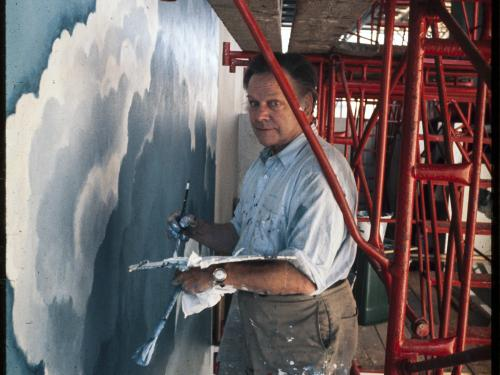 Eric Sloane Painting Clouds