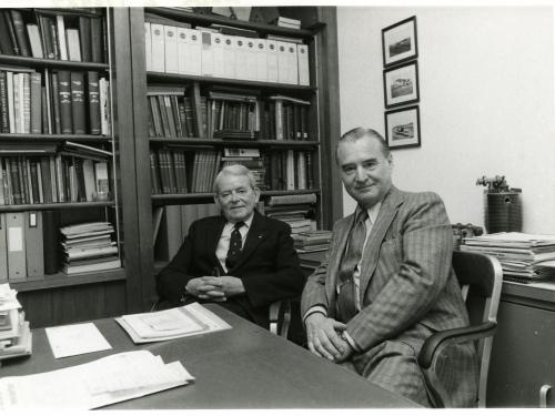 Sir Frank Whittle and Hans J. Pabst von Ohain