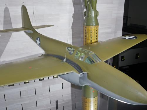 Bell XP-59A Airacomet on display in the Boeing Milestones of Flight Hall