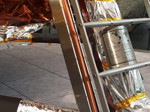 Detail view of the Museum's lunar module.
