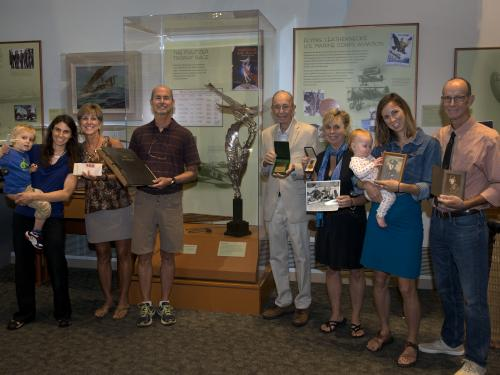 The family of Cyrus Bettis visited the Barron HiltonPioneers of Flight gallery