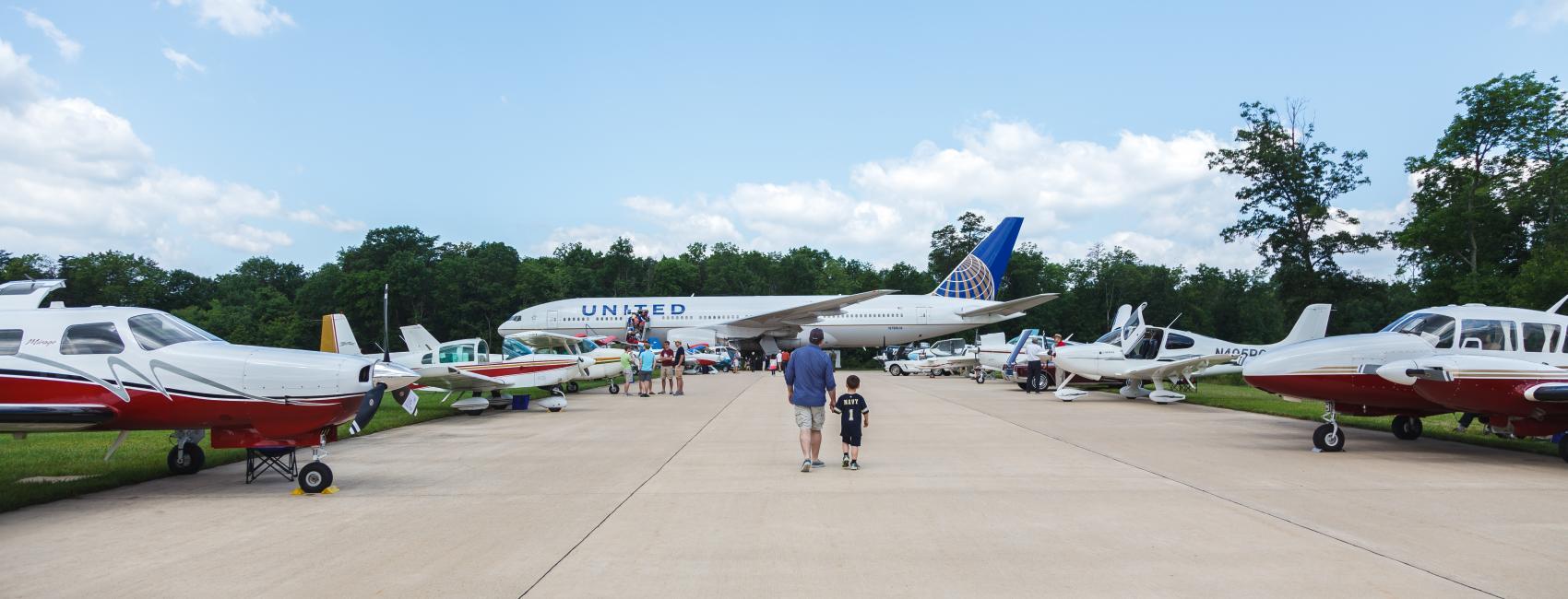 Aircraft at Become a Pilot Day 2014