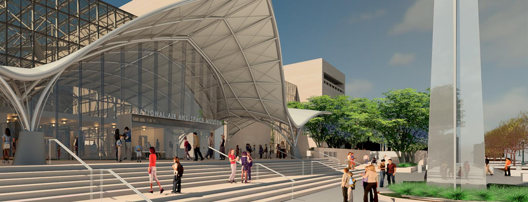 Rendering of Museum's Exterior after Transformation