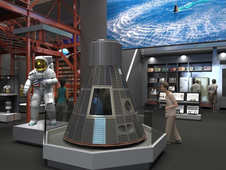 Early Rendering of Destination Moon Gallery
