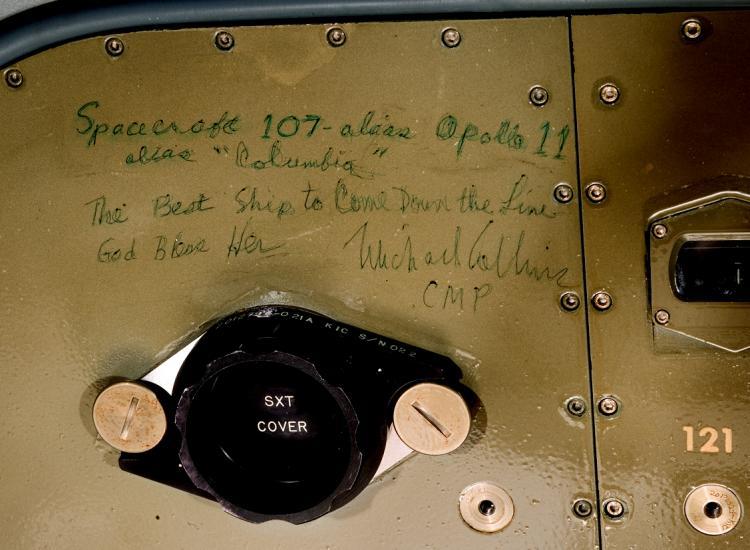 Michael Collins' Inscription inside Apollo 11 Command Module Columbia