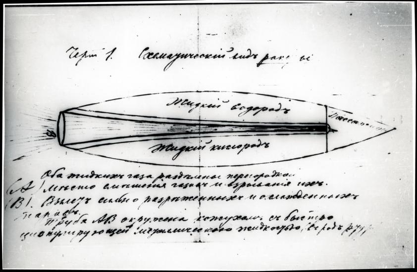 Tsiolkovsky Rocket Concept Illustration