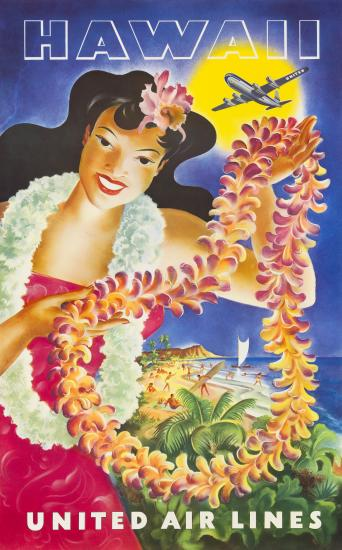 United Hawaii Travel Poster