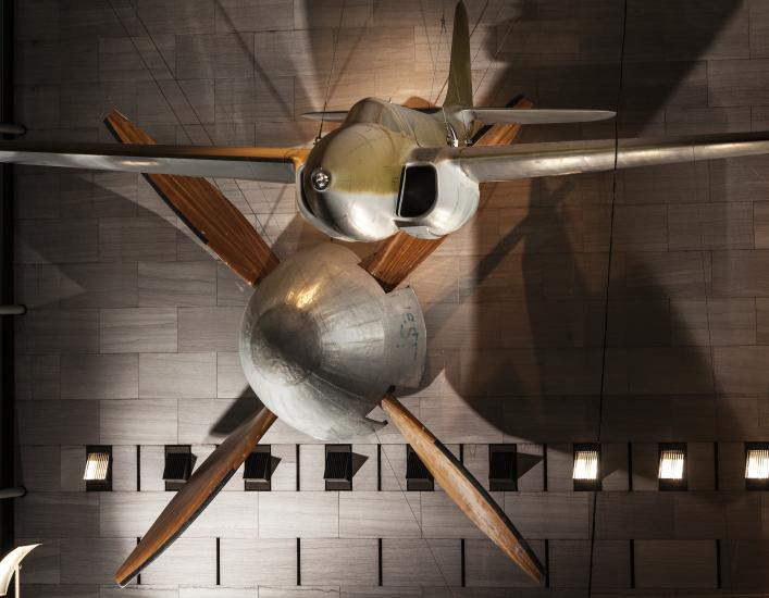 The Full Scale Wind Tunnel Fan on Display in the Boeing Milestones of Flight Hall