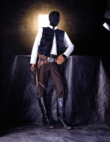 Han Solo's costume, pictured in the Star Wars: The Magic of Myth exhibition.