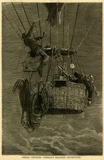 Illustration of balloon flight