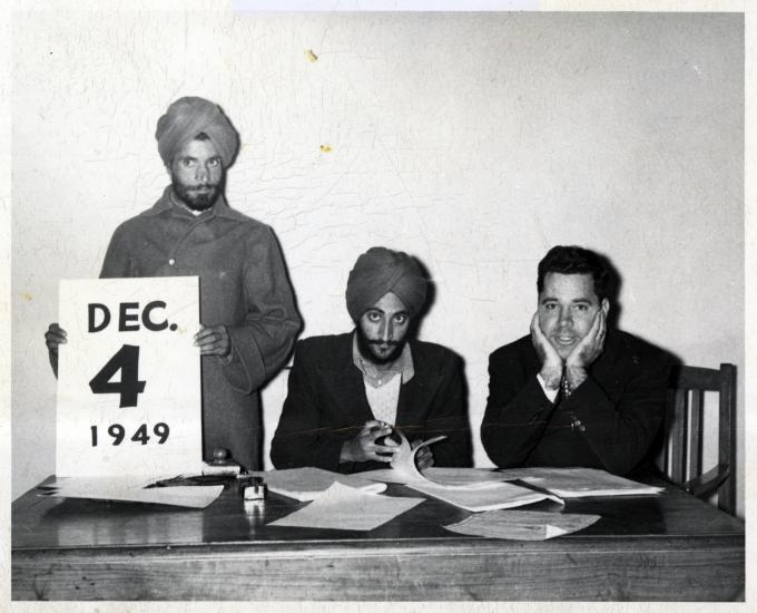 Lanphier and two local officials, Delhi