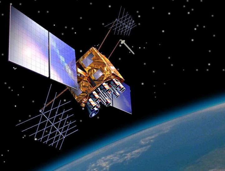 An image of a GPS satellite