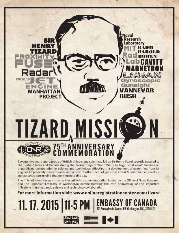 Poster advertising Tizard Mission commemoration