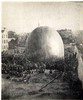 Thaddeus Lowe&#39;s balloon <em>Enterprise</em> being inflated in Cincinnati, 1861.