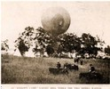 View of one of Thaddeus S.C. Lowe's aerial reconnaissance balloons in a field during the Battle of Fair Oaks, 31 May and 1 June 1862.
