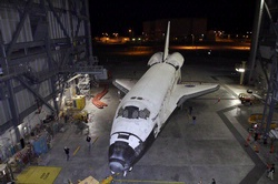 Discovery Rolls Out Of The Vehicle Assembly Building