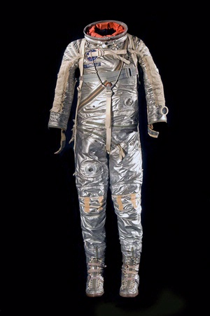 Alan Shepard wore a modified version of a U.S. Navy Mark IV flight suit