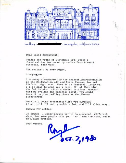 Bradbury Letter