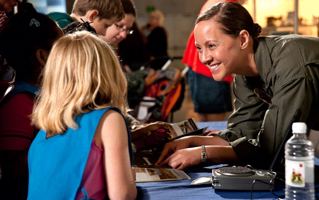 Women in Aviation and Space Family Day at the Udvar-Hazy Center in Chantilly, VA.