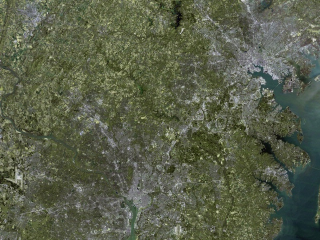 Impervious Surface Cover: Full Graph of DC and Baltimore